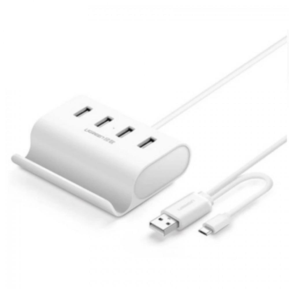 UGREEN 0.5M 4 Ports High Speed Usb 2.0 HUB + Stand with Micro USB 2.0 OTG