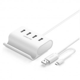 image of UGREEN 0.5M 4 Ports High Speed Usb 2.0 HUB + Stand with Micro USB 2.0 OTG