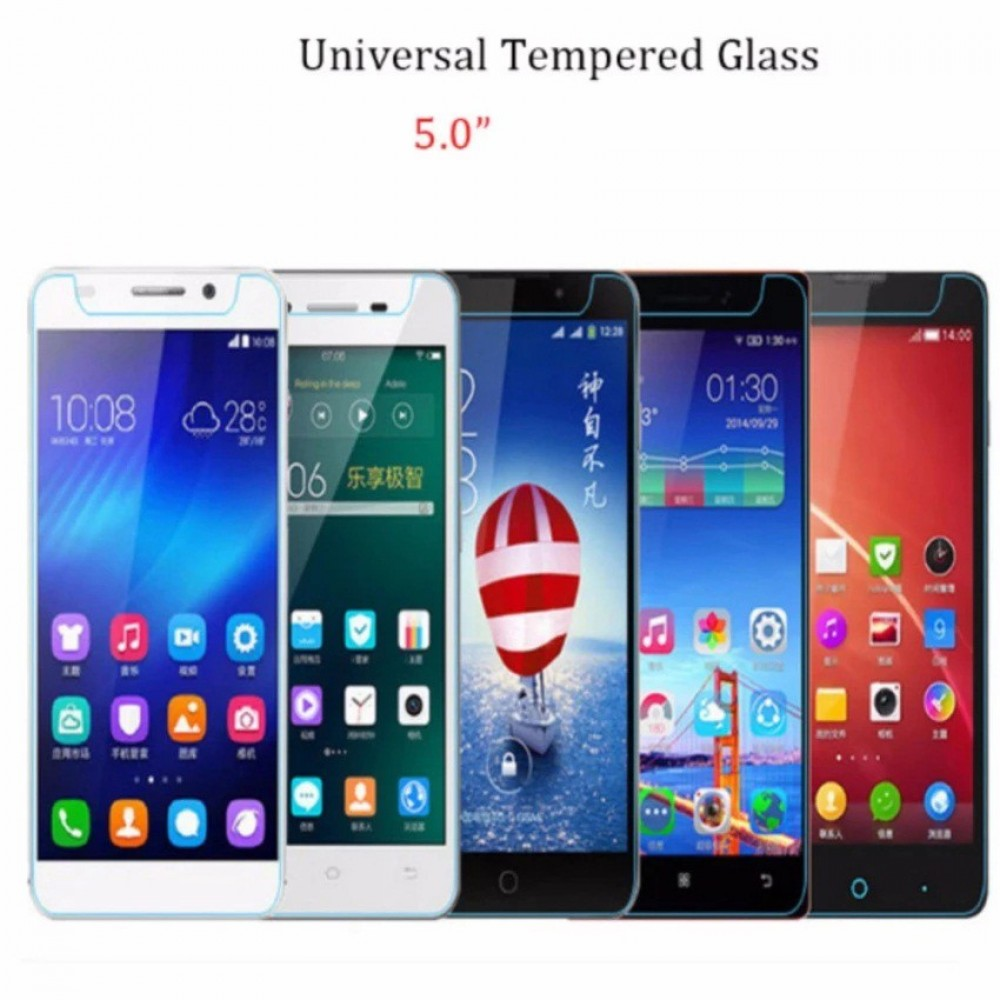 """Universal Tempered Glass Screen Protector 5.0"""" Compatible 5 Inch Smart Phone"""