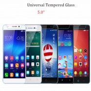 "image of Universal Tempered Glass Screen Protector 5.0"" Compatible 5 Inch Smart Phone"
