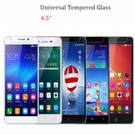 "image of Universal Tempered Glass Screen Protector 4.5"" Compatible 4.5 Inch Smart Phone"