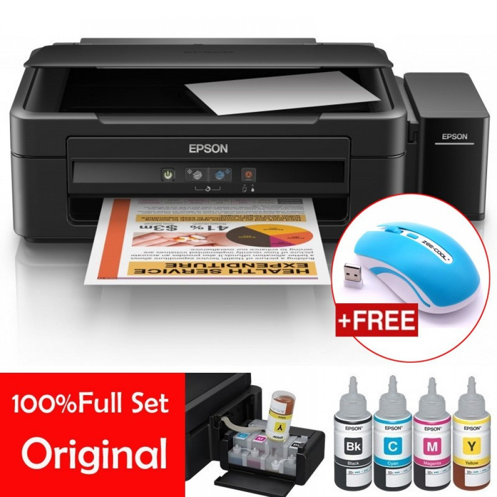 Official Epson L360 All-In-One Tank System Printer with 4Pcs 70ml Original Ink