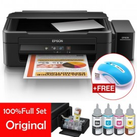 image of Official Epson L360 All-In-One Tank System Printer with 4Pcs 70ml Original Ink