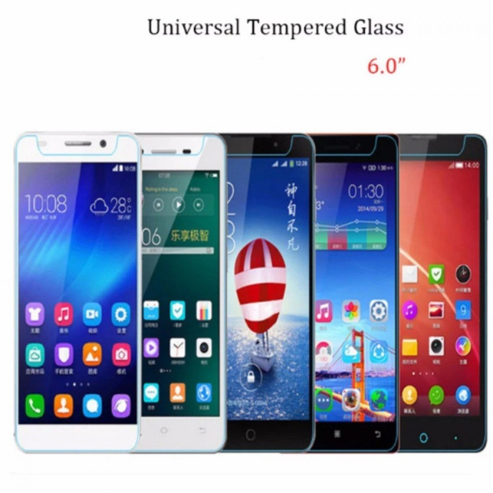 "Universal Tempered Glass Screen Protector 6.0"" Compatible 6 Inch Smart Phone"