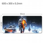 Battlefield Gaming Mat Non-slip Anti Fray Stitching Beautiful Mouse Pad