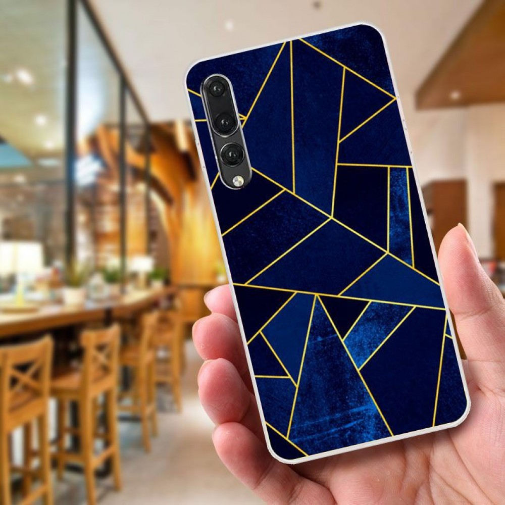 Huawei P20 Fushion Design TPU Protective Back Case