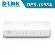 image of Official D-Link DES-1008A 8-Port 10/100 Mbps Fast Ethernet Desktop Switch