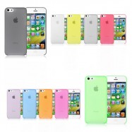 image of Apple iPhone 5/SE/5S 0.3mm Ultra Thin Slim Clear Matte Soft Back Case
