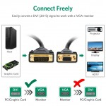 Ugreen DVI 24+5 Male to VGA HD15 Female Adapter Gold Plated 0.8cm