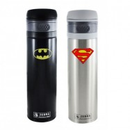 image of Zebra 0.5L Vacuum Flask - Batman/Superman