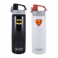 image of Zebra 0.6L Vacuum Bottle - Batman/Superman