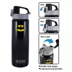 Zebra 0.6L Vacuum Bottle - Batman/Superman
