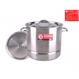image of Zebra 28X26cm Stock Pot W/Steaming Plate