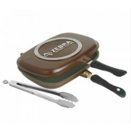 image of Zebra 32 X 24cm Double Grill Pan (FOC Food Tong)