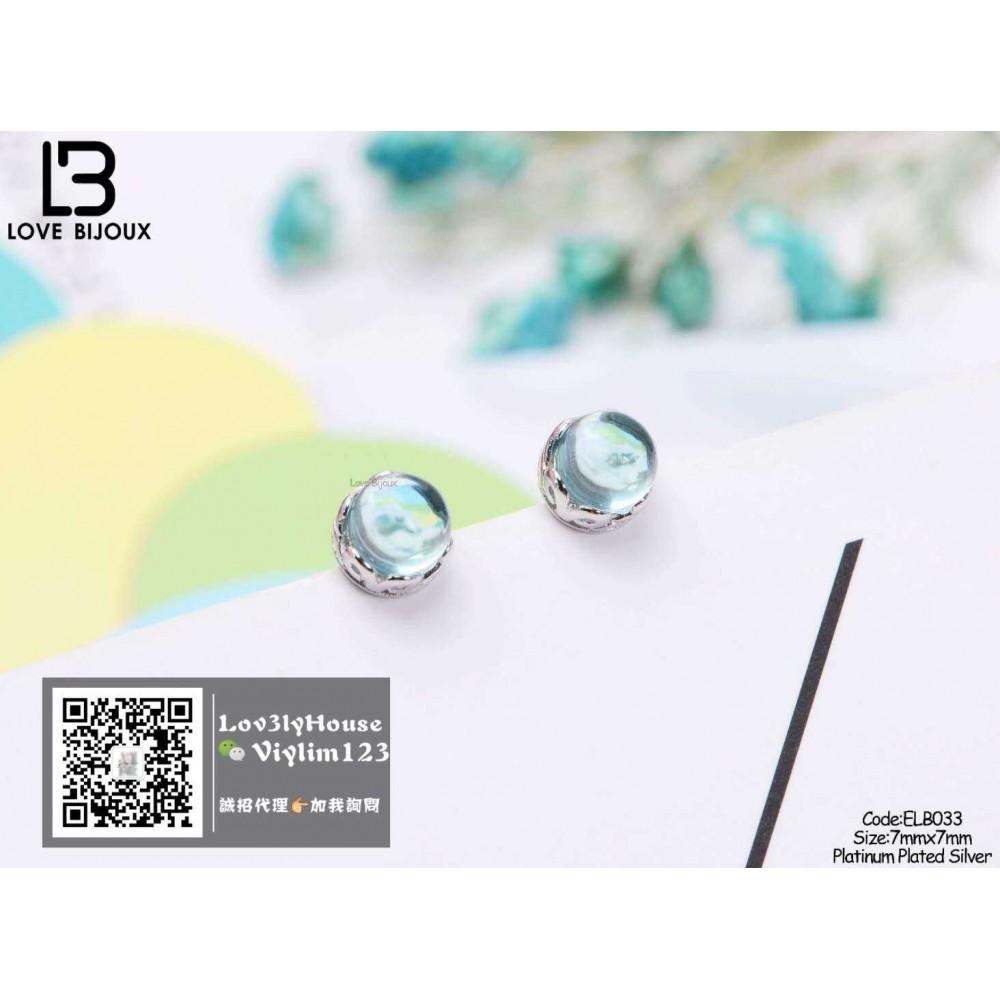 [Love Bijoux earrings series] S925 platinum plated earrings ELB033