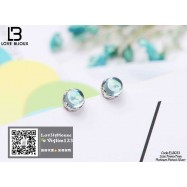 image of [Love Bijoux earrings series] S925 platinum plated earrings ELB033
