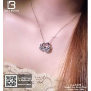image of [Love Bijoux heart series] S925 silver plated platinum elegant swan necklace PLB081