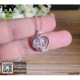 image of [HY Exclusive Series] S925 Sterling Silver 360° Rotating Abacus Necklace PH311