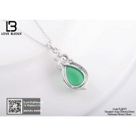 image of 【Love Bijoux】S925 Wealth natural chalcedony pendantPLB071