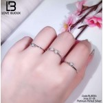 [Love Bijoux Series] S925 silver lucky four-leaf clover triple platinum plating ring RLB016