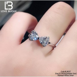 image of [Love Bijoux Romance Series] Beautiful Butterfly Diamond Ring RLB017