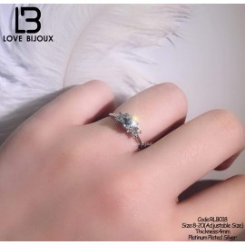 image of [Love Bijoux Romantic Series] S925 Platinum plated Romantic Corolla Ring RLB018