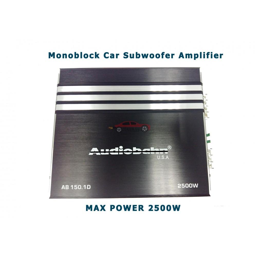 Audiobahn Max Power 2500w Monoblock Subwoofer Amplifier