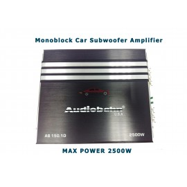 image of Audiobahn Max Power 2500w Monoblock Subwoofer Amplifier