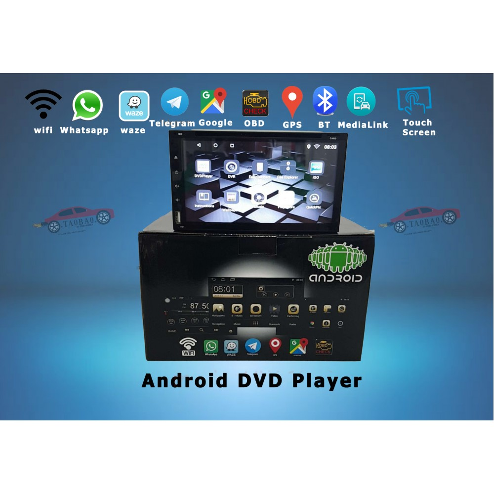 Android DVD Multimedia Player Touch Screen GPS Function