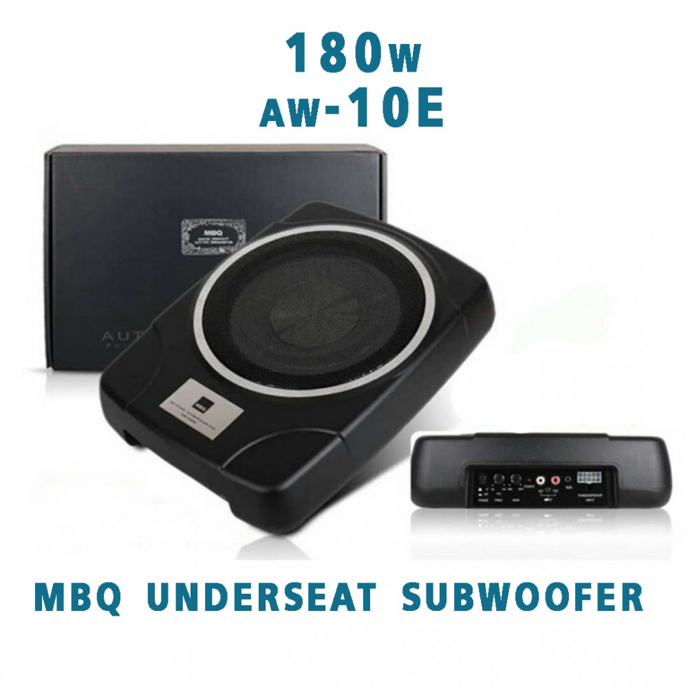 """MBQ AW-10e 10"""" Car UnderSeat Subwoofer"""