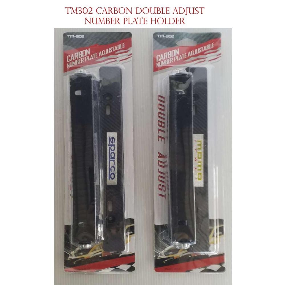 TM-302 DOUBLE ADJUST Plate Holder (Carbon)