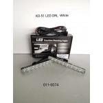 9 LED DAYTIME RUNNING LIGHT KD-51 (WHITE) 18W