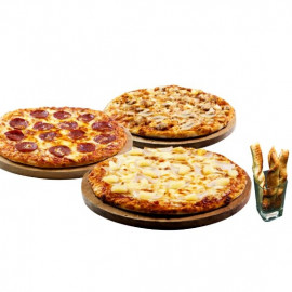 image of 3 Regular Favourites (Free 1 Twisty Garlic Bread)