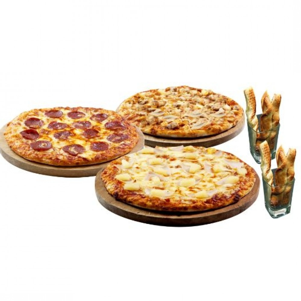 3 Large Favourites (Free 2 Twisty Garlic Bread)