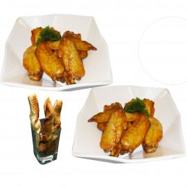 image of BBQ Wings + Buffalo Wings + Twisty Garlic bread