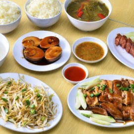 image of 5-Course Signature Chicken Rice with Drinks for 2 Person