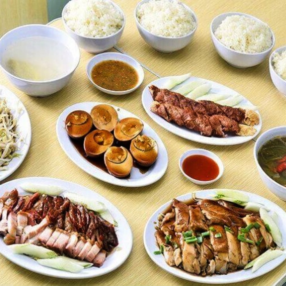 6-Course Signature Chicken Rice with Drinks for 5 Person