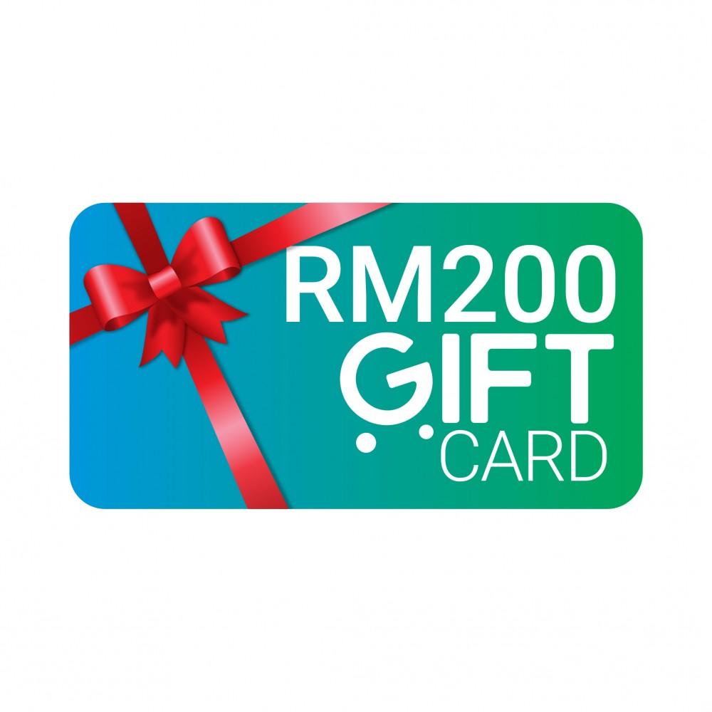 Gvado Gift Card Worth RM200
