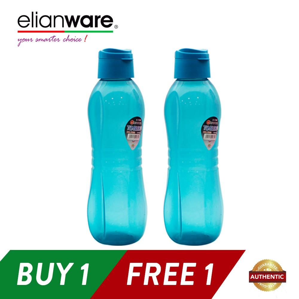 image of Elianware Sport Large Flip Top Water Bottler 1L x 2pcs