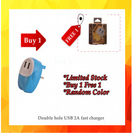 image of  {12.12}  BUY 1 FREE 1Double hole USB 2A fast charger Random Color  BUY 1 FREE 1