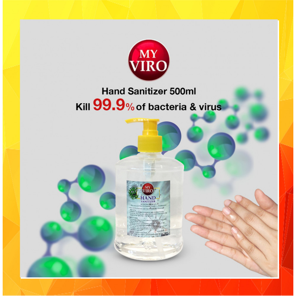 [Ready Stock]Hand Sanitizer 500ML [Ethyl Alcohol 75% v/v]
