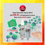 [Ready Stock]Hand Sanitizer Spray 60ML [Ethyl Alcohol 75% v/v] x 3btl