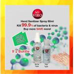 [Ready Stock]Hand Sanitizer Spray 60ML [Ethyl Alcohol 75% v/v] x 2btl