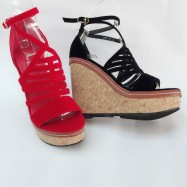 image of 12 CM OPEN TOE WITH 4CM PLATFORM WEDGER COMFORTABLE SHOES