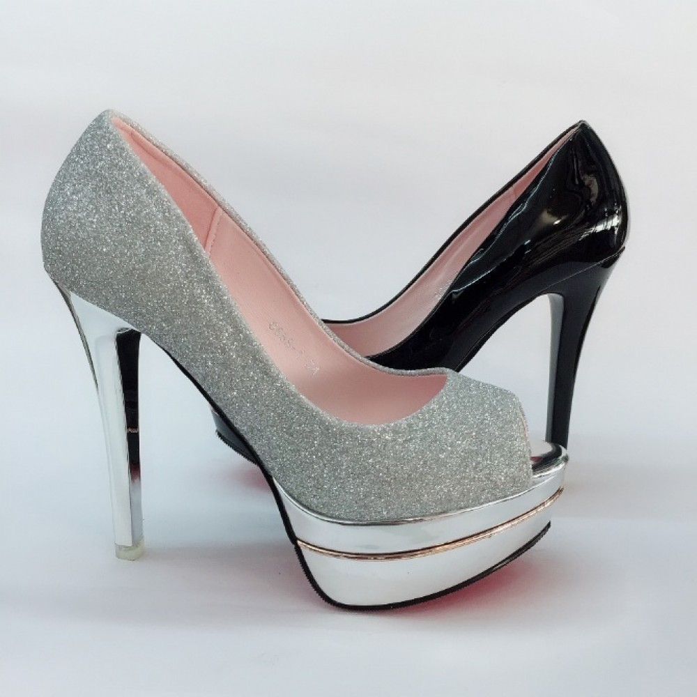 12 CM WITH 3CM PLATFORM OPEN TOE HEELS ELEGANT SHOES 6688-1