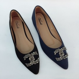 image of CASUAL FLAT LOAFERS SLIP-ON DOLLS SHOES 888-779