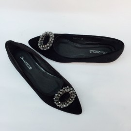 image of CASUAL FLAT LOAFERS SLIP-ON DOLLS SHOES (BLACK)