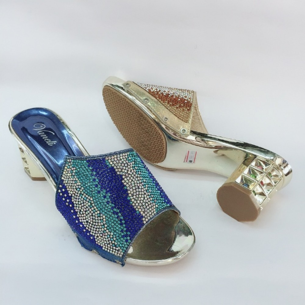 5 CM BIG HEELS BLING BLING DINNER SHOES