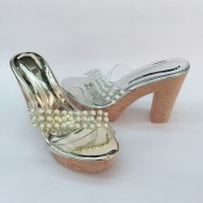 image of 12 CM WITH 4CM PLATFORM BIG HIGH HEELS SHOES 5832-22