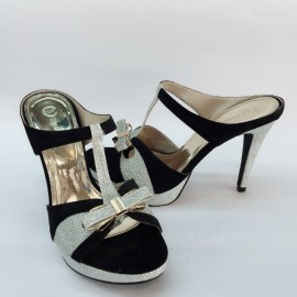 image of 10 CM SLIDE BLING BLING WITH 2CM PLATFORM HEELS SHOES